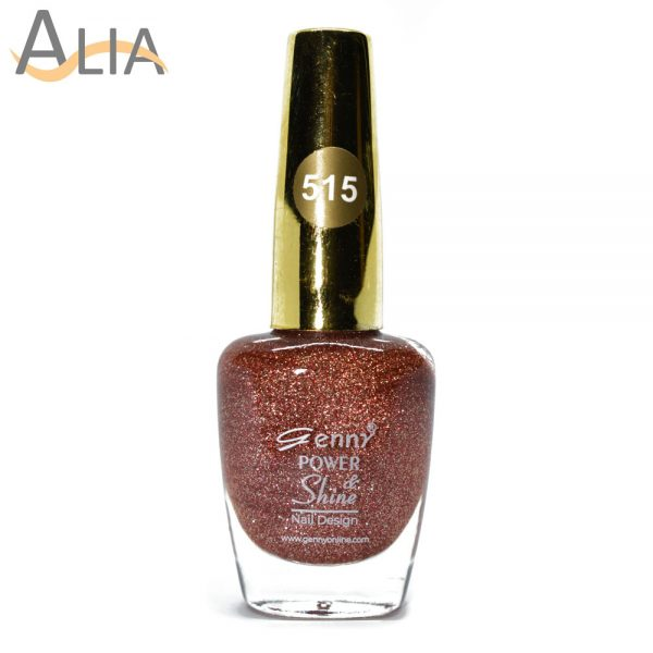 Genny nail polish (315) rosegold glitter color