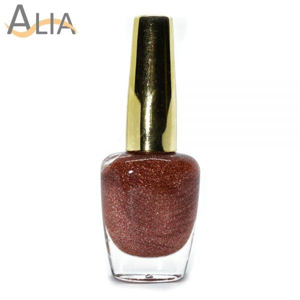 Genny nail polish (315) rosegold glitter color.