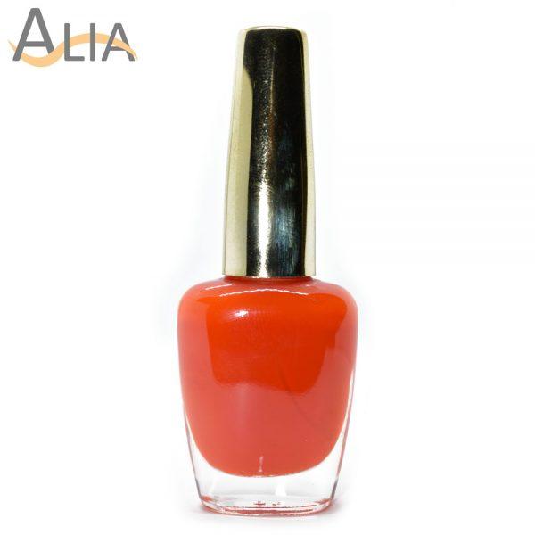 Genny nail polish (318) bright orange color.