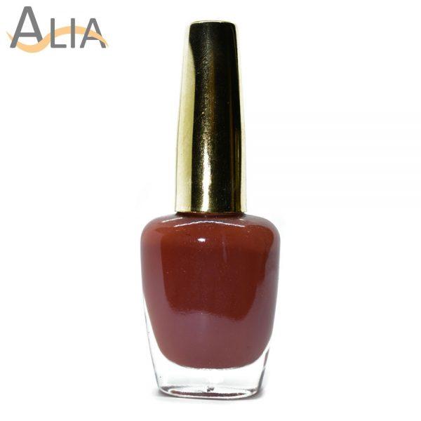 Genny nail polish (326) pure brown color.