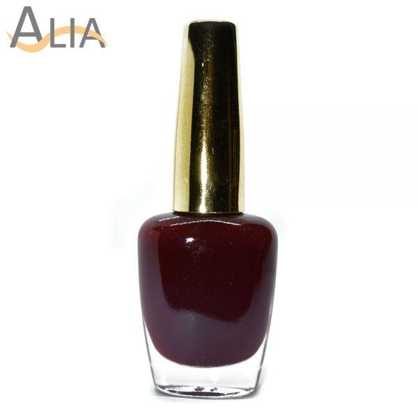 Genny nail polish (328) pure maroon color.