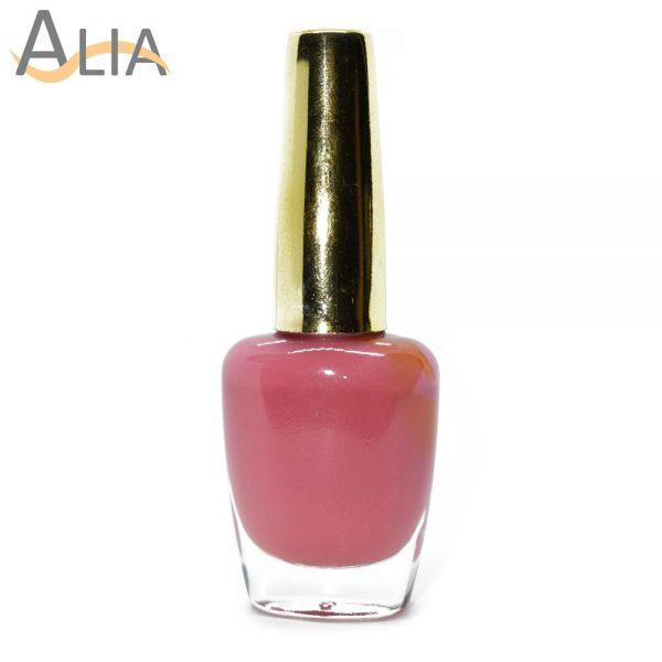 Genny nail polish (355) pure light pink color.