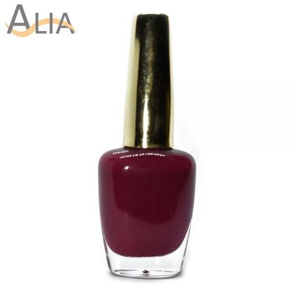 Genny nail polish (382) medium maroon color.