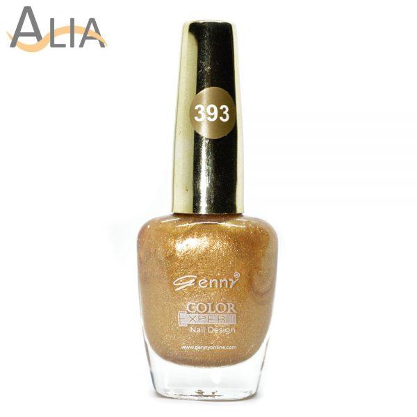 Genny nail polish (393) shimmery golden color