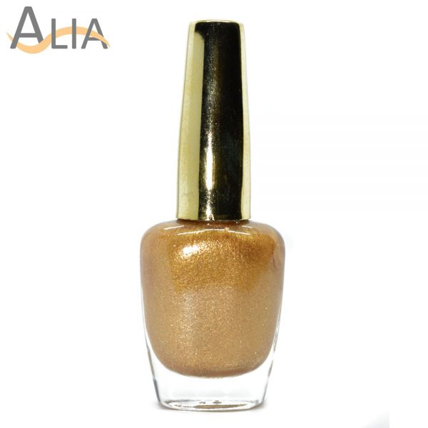 Genny nail polish (393) shimmery golden color.