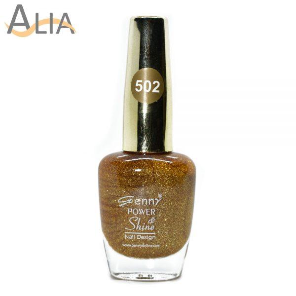 Genny nail polish (502) gold glitter color