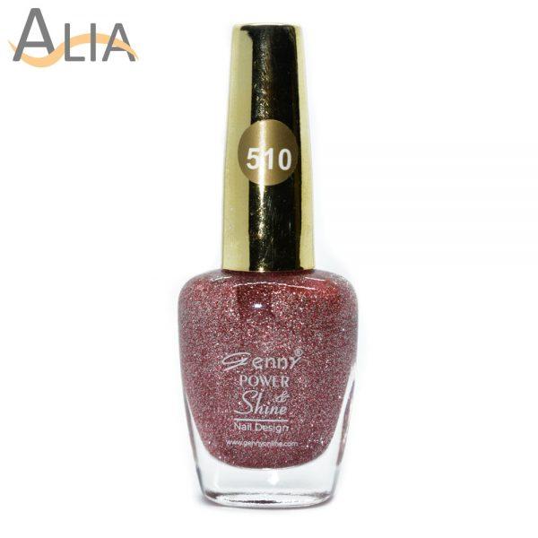 Genny nail polish (510) pinkish glitter color