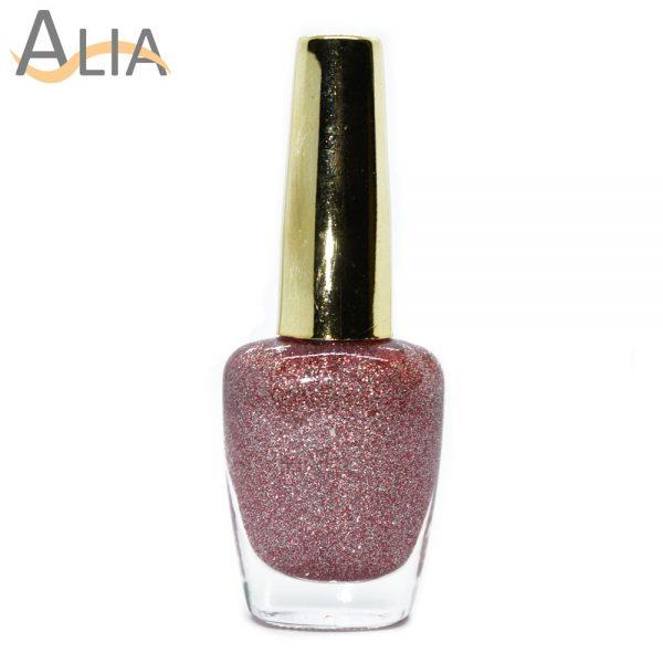 Genny nail polish (510) pinkish glitter color.