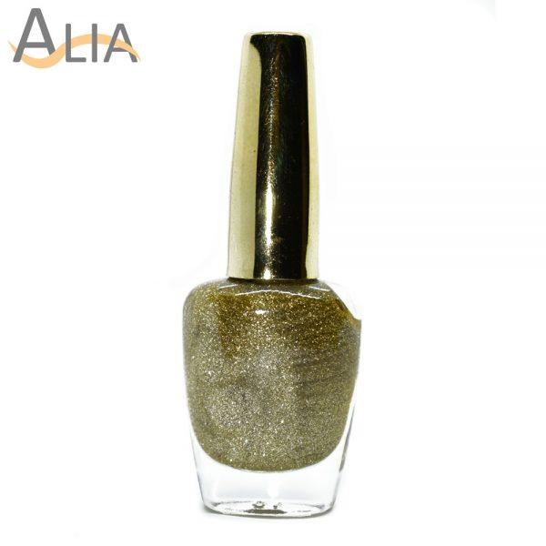 Genny nail polish (511) light golden glitter color.