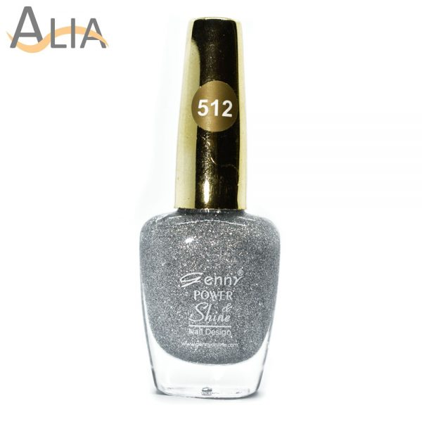 Genny nail polish (512) silver glitter color