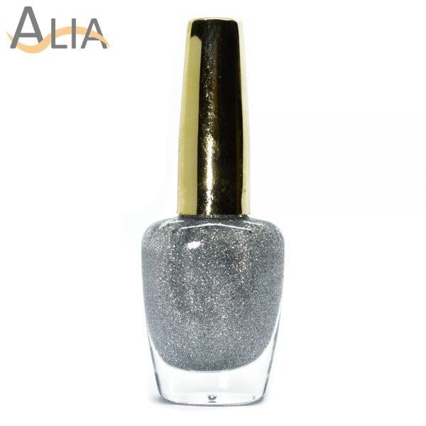 Genny nail polish (512) silver glitter color.