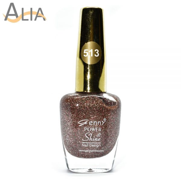 Genny nail polish (513) confetti glitter color