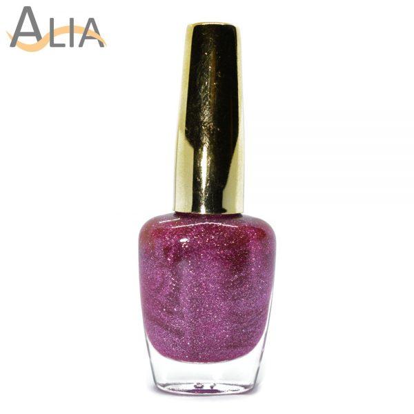 Genny nail polish (514) pink glitter color.