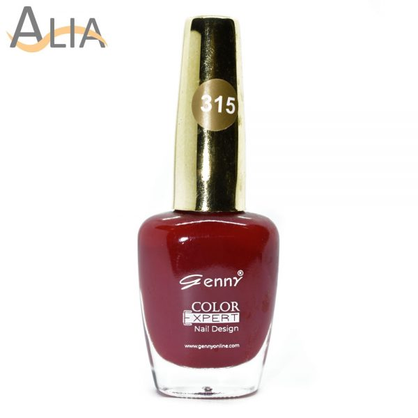 Genny nail polish max effects (315) dark red color