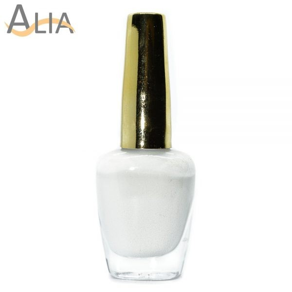 Genny nail polish max effects (324) white color.