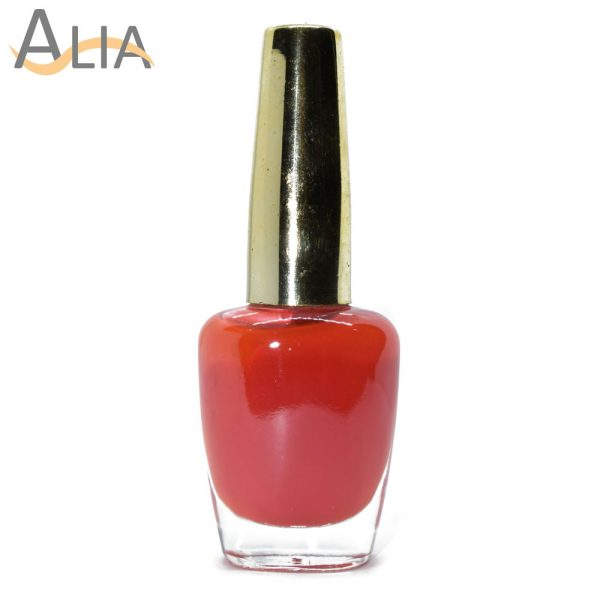 Genny nail polish max effects (331) pinkish orange color.