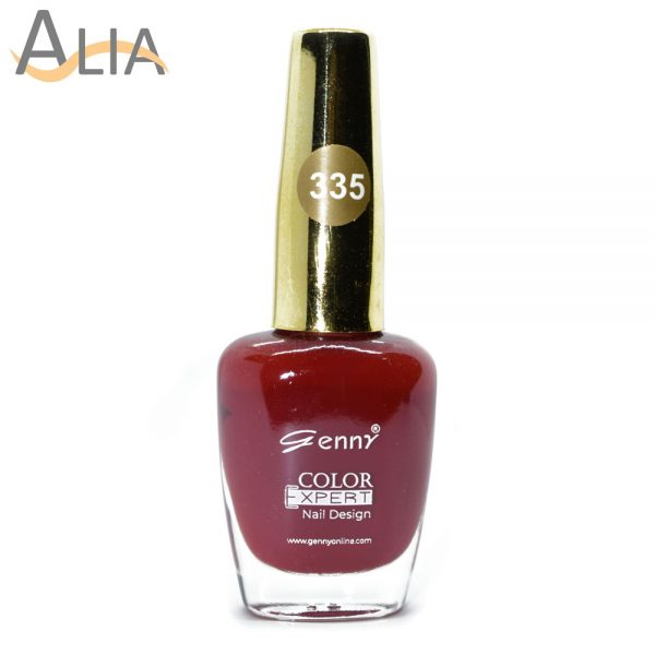 Genny nail polish max effects (335) light maroon color