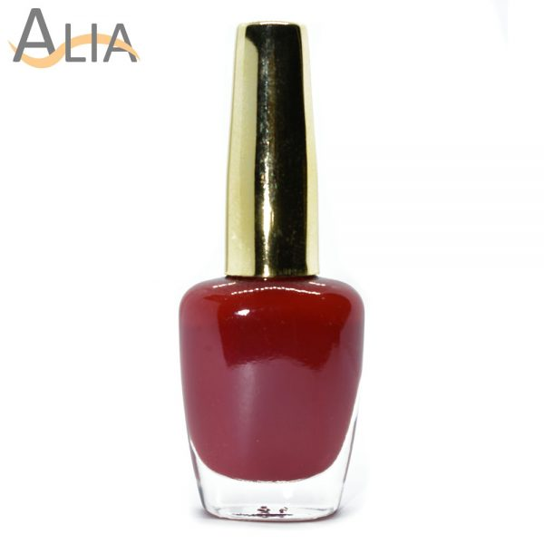 Genny nail polish max effects (335) light maroon color.