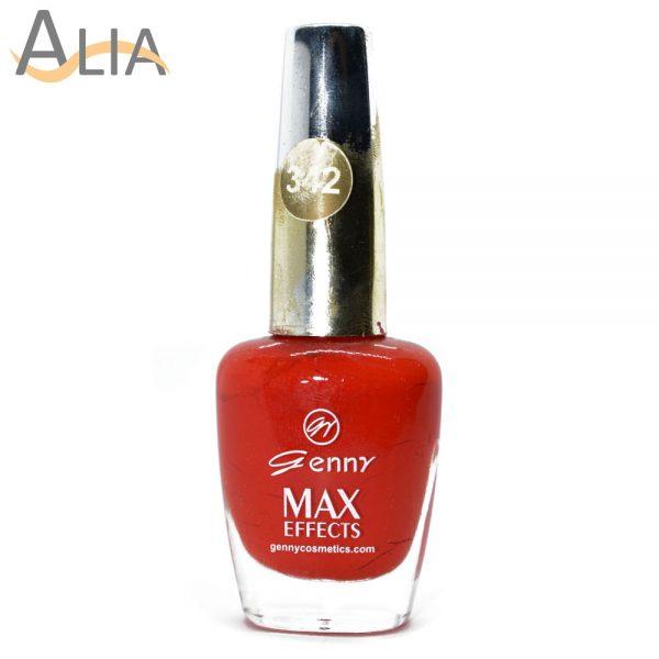 Genny nail polish max effects (342) orangish red color