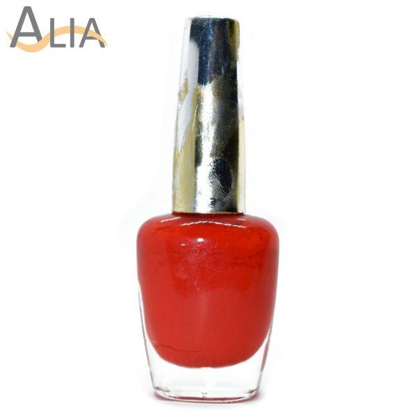 Genny nail polish max effects (342) orangish red color.