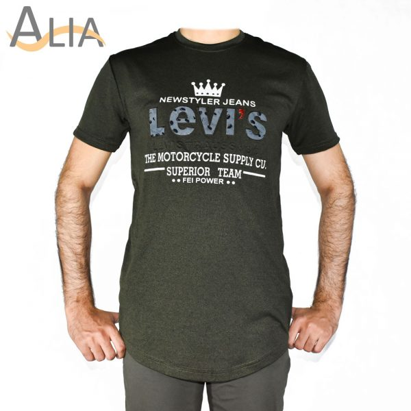 Levi's t shirt with best quality color green
