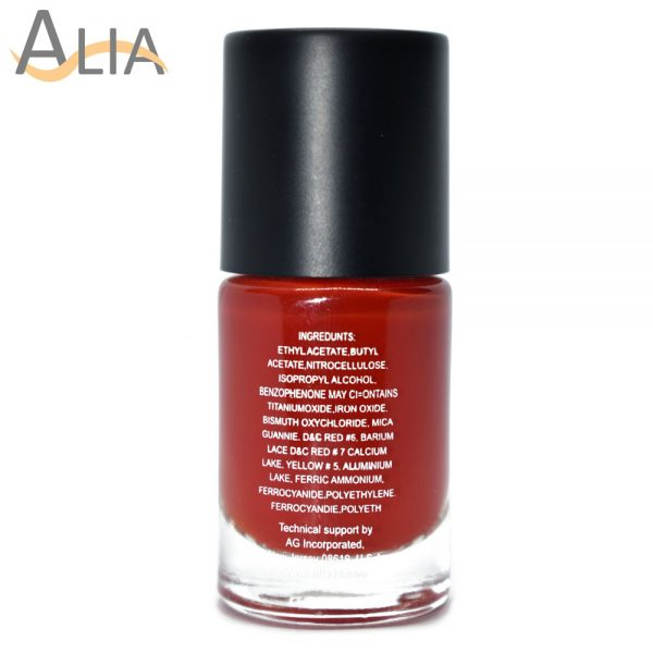 Silly18 60 seconds nail polish 01 red color.