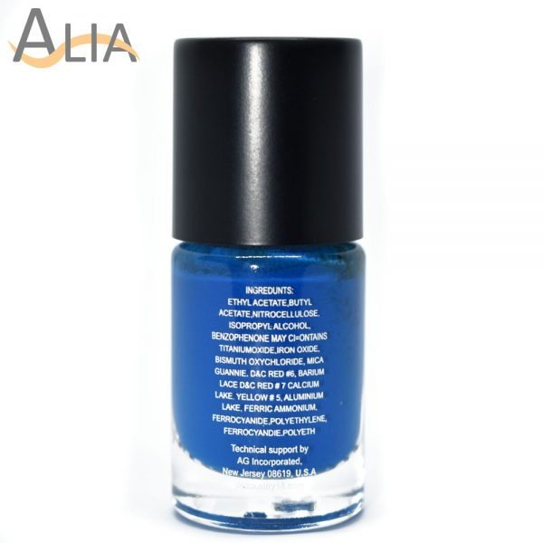 Silly18 60 seconds nail polish 08 dark blue color.
