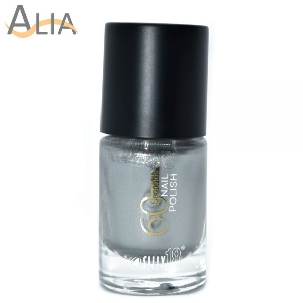 Silly18 60 seconds nail polish 10 silver color