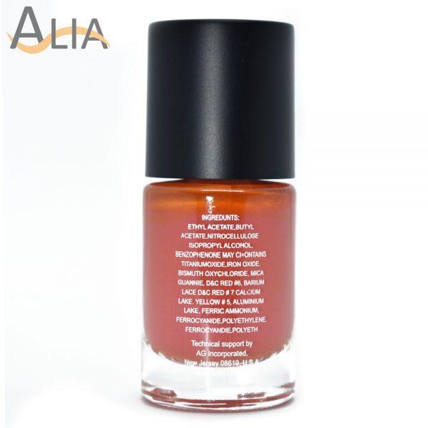 Silly18 60 seconds nail polish 14 pumpkin orange color.