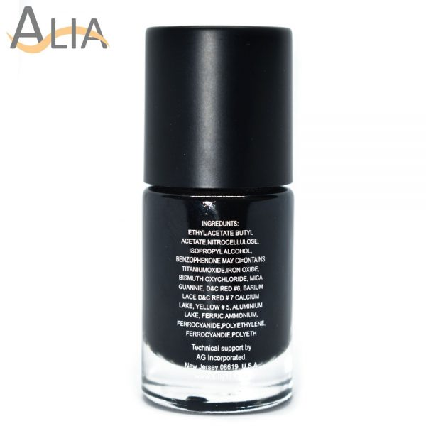 Silly18 60 seconds nail polish 15 pure black color.