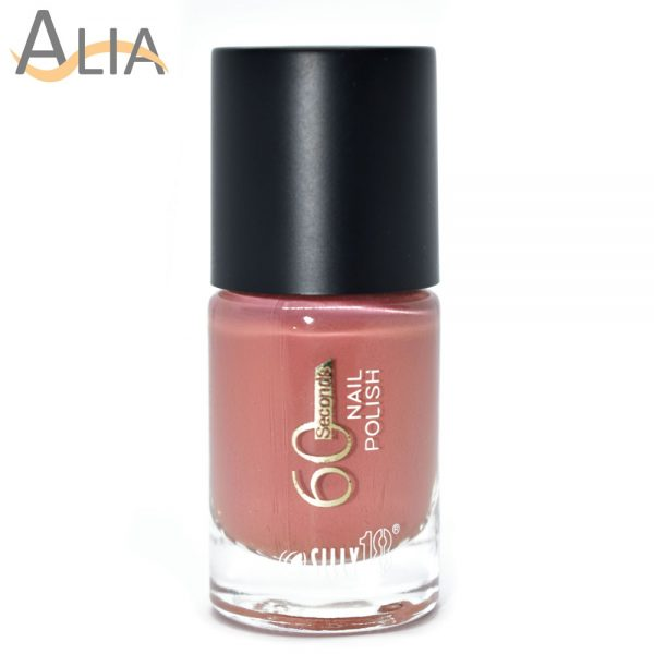 Silly18 60 seconds nail polish 16 pinkish nude color