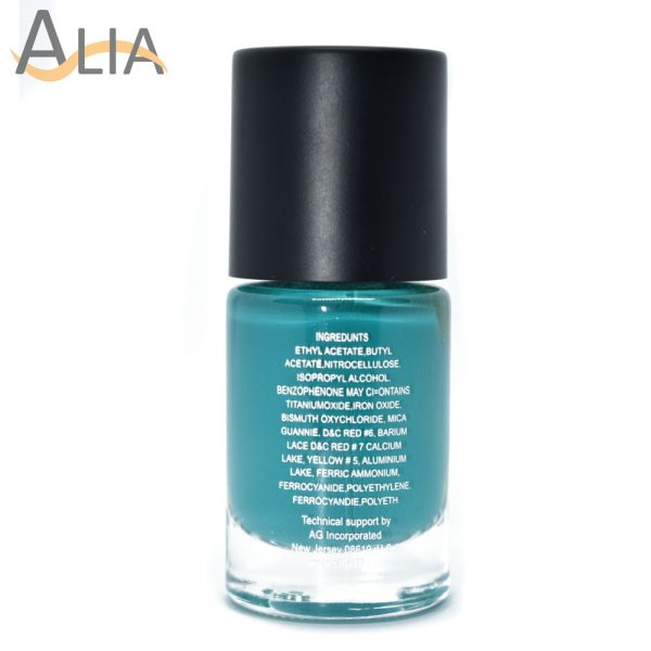 Silly18 60 seconds nail polish 17 dark turquoise color.