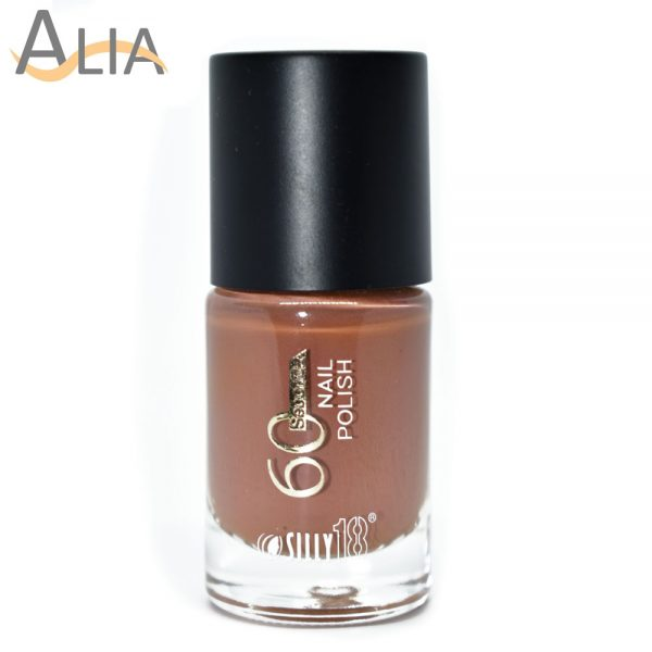 Silly18 60 seconds nail polish 20 brownish nude color