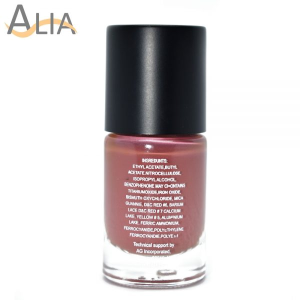 Silly18 60 seconds nail polish 27 light brown color.