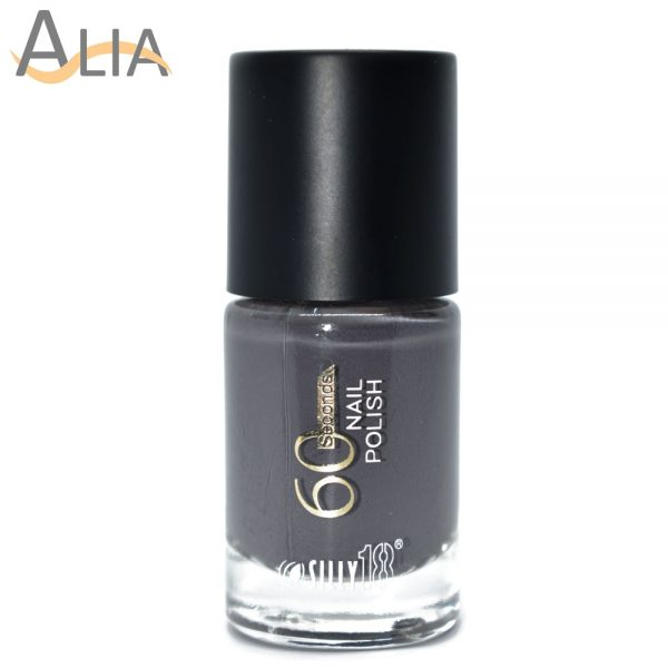 Silly18 60 seconds nail polish 38 grey color