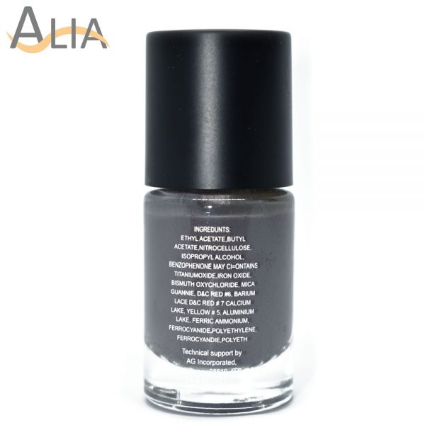 Silly18 60 seconds nail polish 38 grey color.