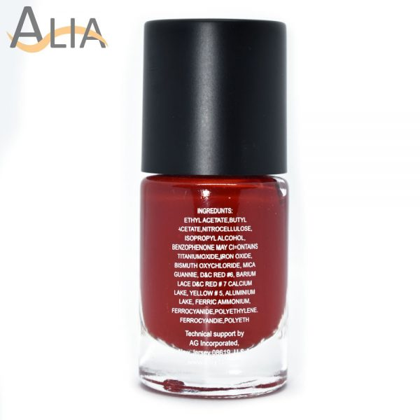 Silly18 60 seconds nail polish 40 red color.