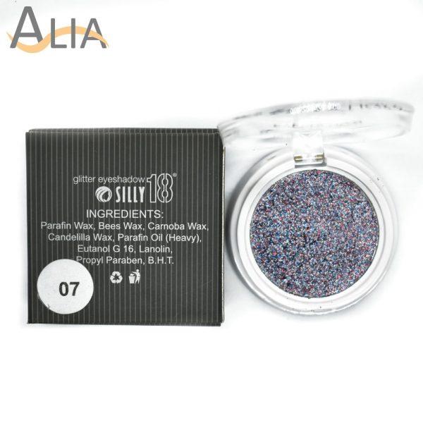 Silly18 glitter eyeshadow shade 07 purple mix