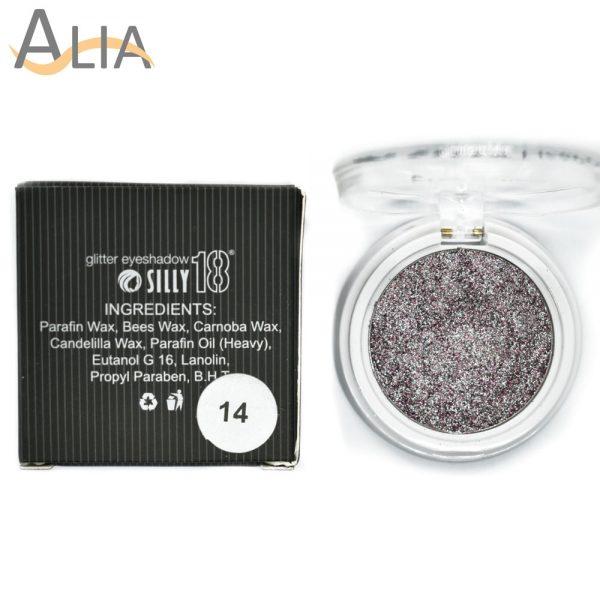 Silly18 glitter eyeshadow shade 14 mix.