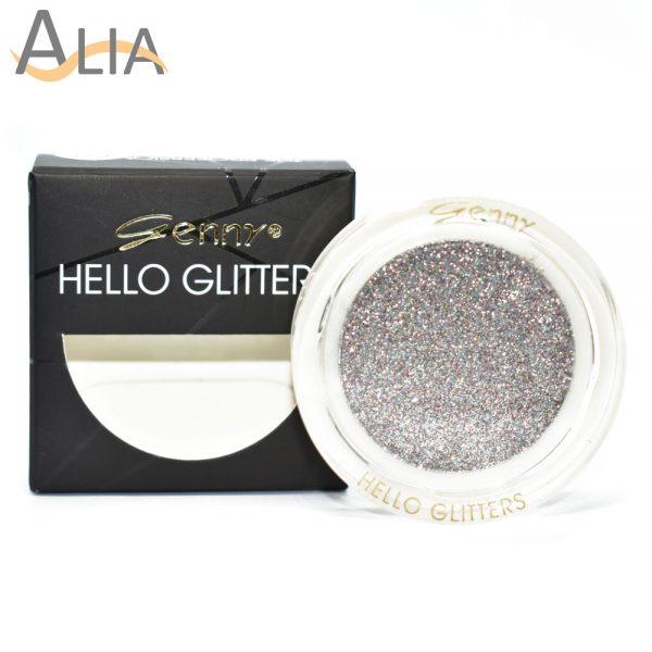 Genny hello glitters eye shadow shade 01 silver mix glitter