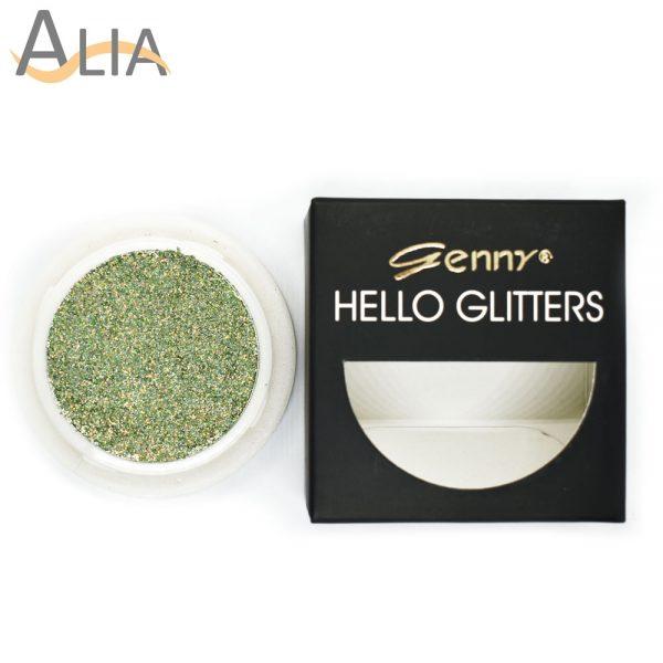 Genny hello glitters eye shadow shade 03 light green