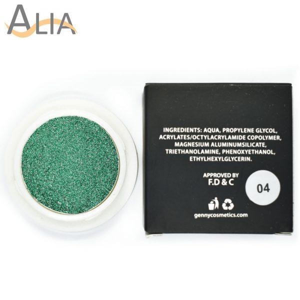 Genny hello glitters eye shadow shade 04 green.