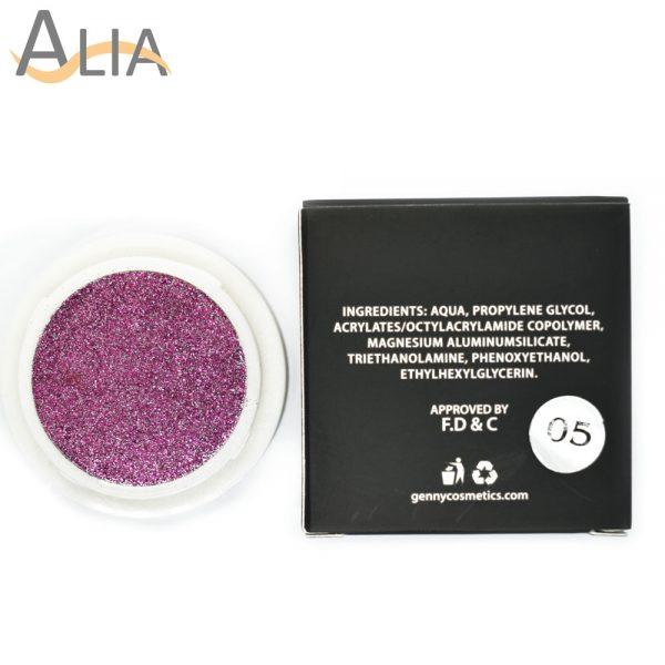 Genny hello glitters eye shadow shade 05 purple.