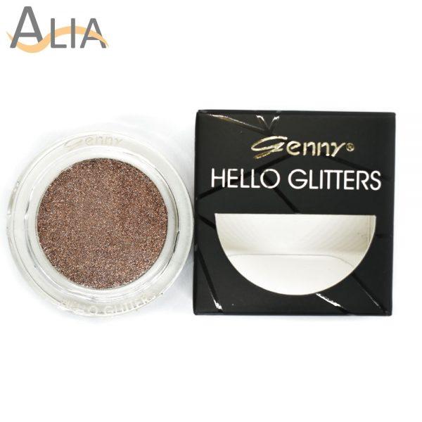 Genny hello glitters eye shadow shade 06 brown