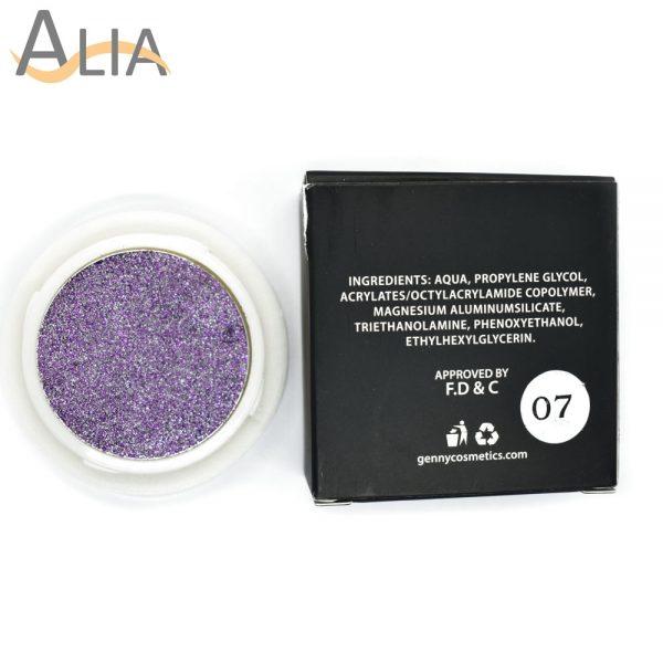 Genny hello glitters eye shadow shade 07 violet