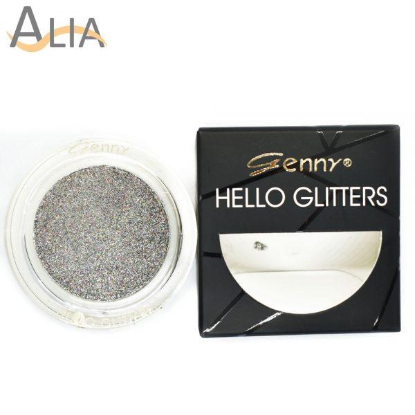 Genny hello glitters eye shadow shade 08 silver mix