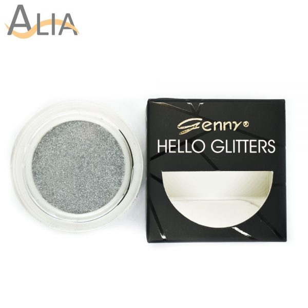 Genny hello glitters eye shadow shade 12 pure silver
