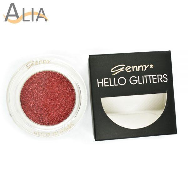 Genny hello glitters eye shadow shade 14 red