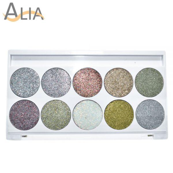 Silly 18 posh palette glitter eye shadow diamond dust.