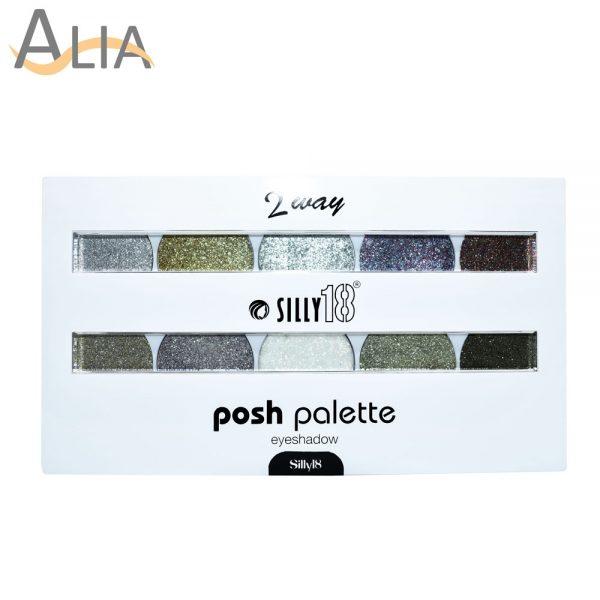 Silly 18 posh palette glitter eye shadow fairy dust